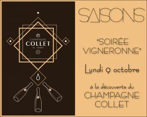 Soirée Champagne Collet au Restaurant Saisons