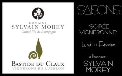 Soirée Vigneronne avec le Domaine Sylvain Morey et le Domaine La Bastide du Clos