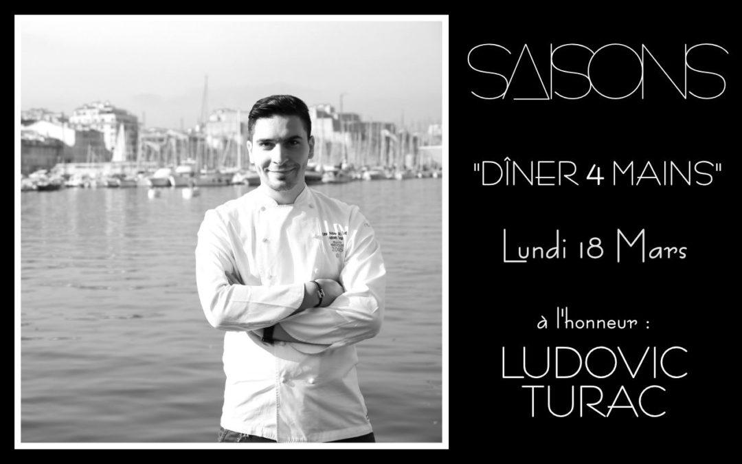 Dîner 4 Mains avec le Chef Ludovic Turac