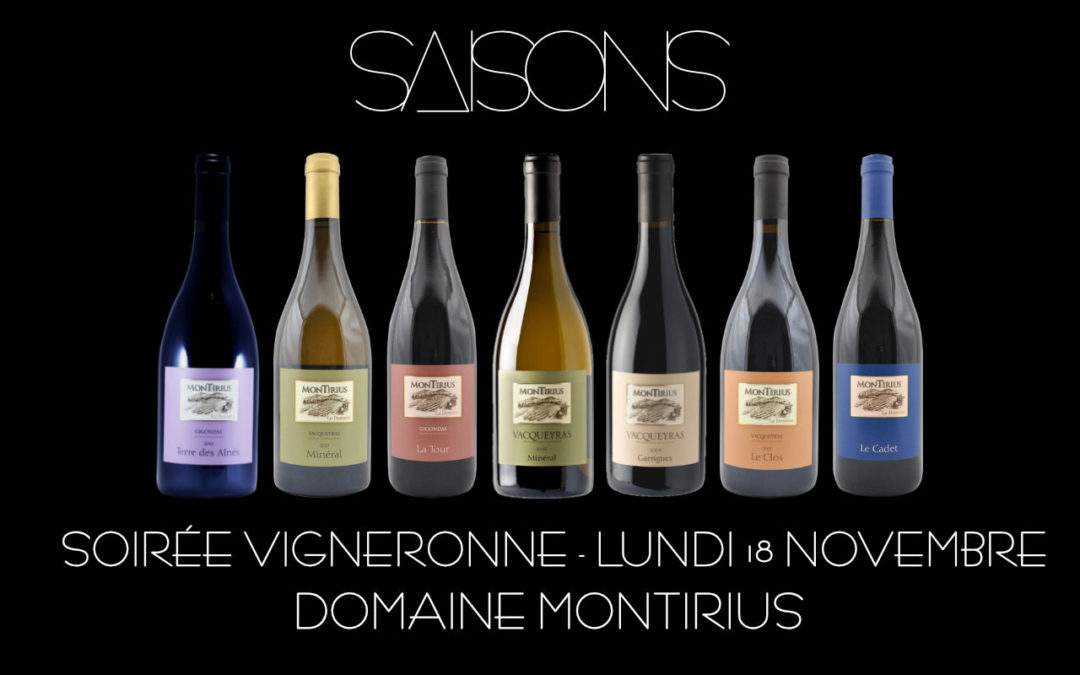 Soirée Vigneronne : Domaine Montirius