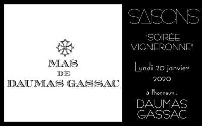 Soirée Vigneronne : Domaine Daumas Gassac