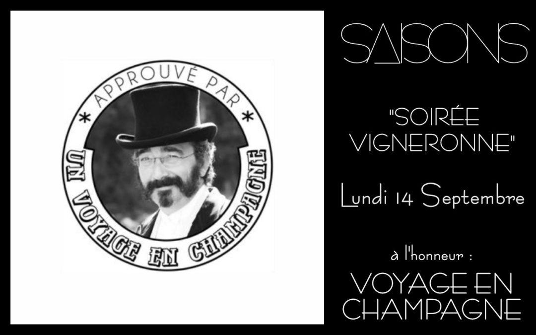 Soiree Vigneronne Voyage Champagne