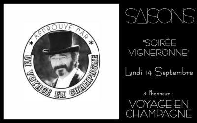 Soirée «Voyage en Champagne»